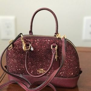 Coach mini Cross body Bag  Merlot